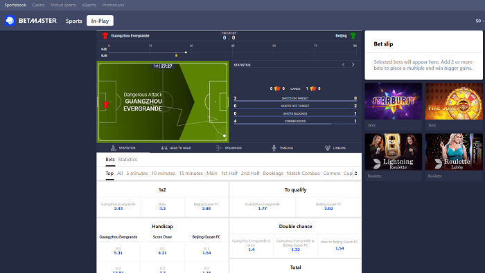 betmaster live betting